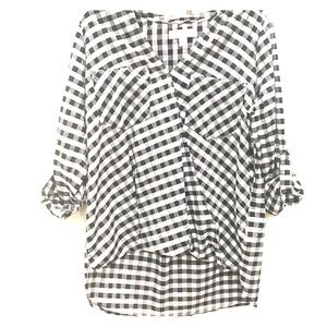 Michael Kors  Top with wrap front  Gingham print